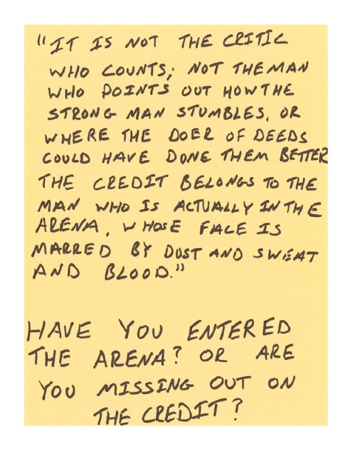 Have you entered the arena